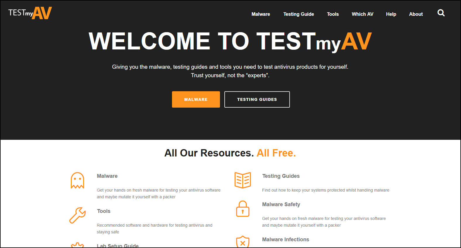 Funny tests: a selection of sites