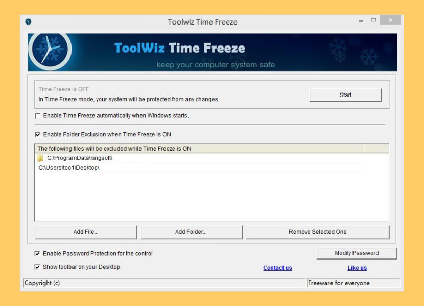 Toolwiz Time Freeze