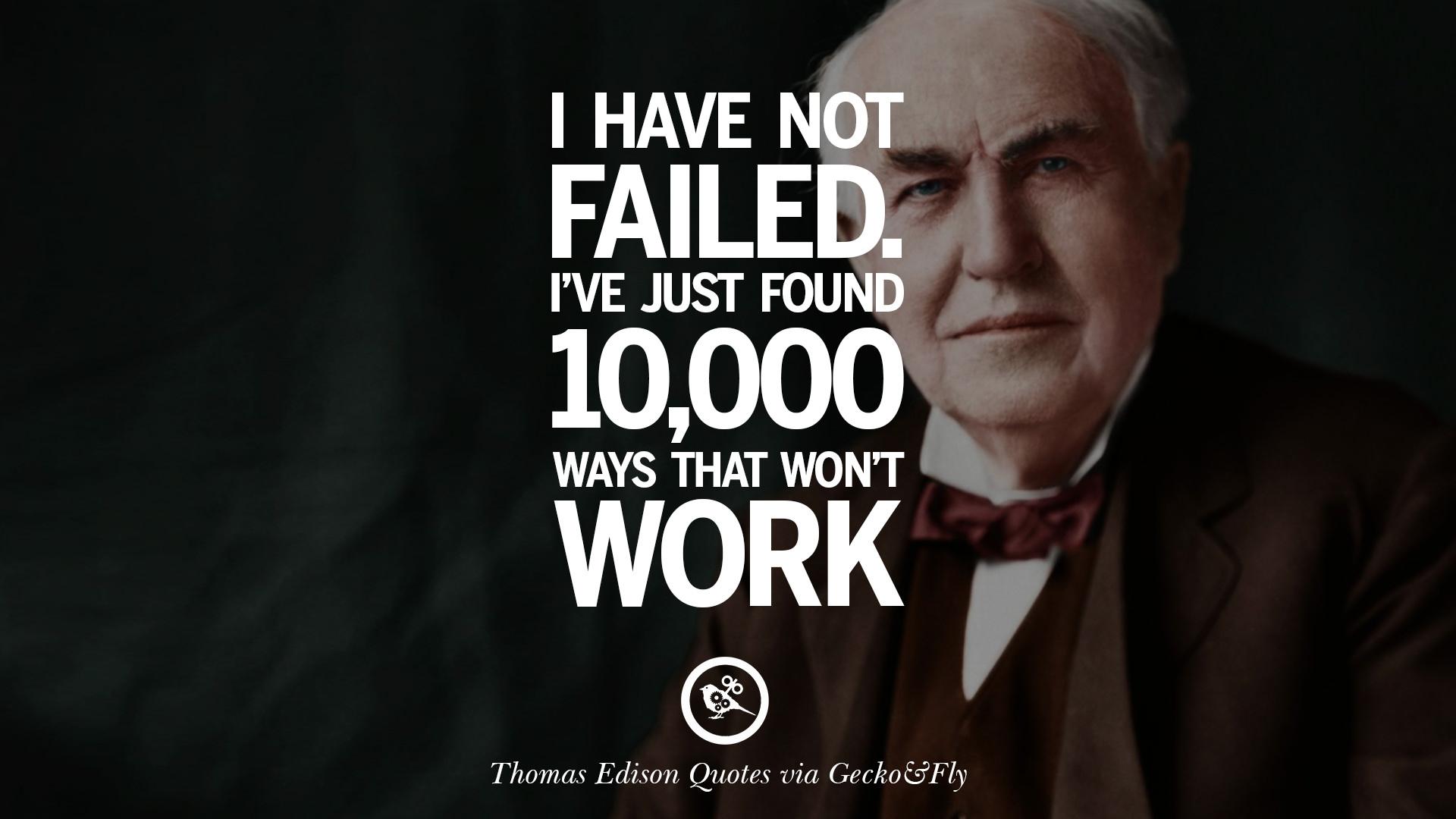 thomas edison citater 10 Empowering Quotes By Thomas Edison On Hard Work And Success thomas edison citater