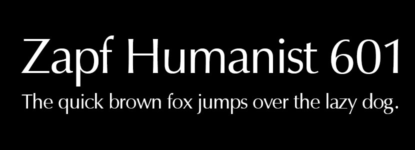 Zapf Humanist 601
