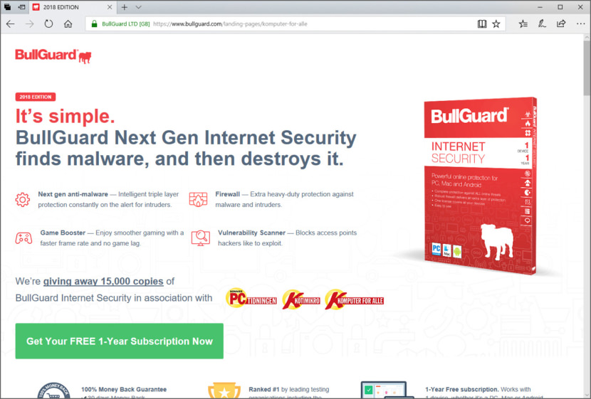 Download BullGuard Internet Security