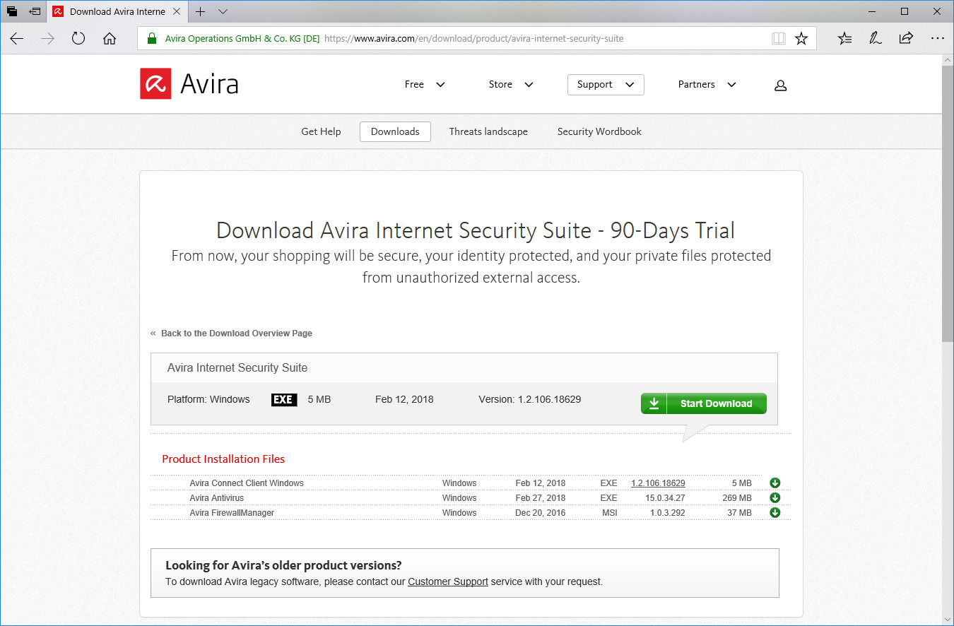 Download Free Avira Internet Security Suite 2020 Trial With