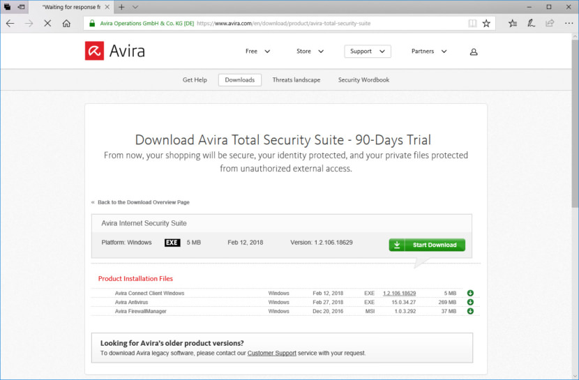 Download Avira Total Security Suite
