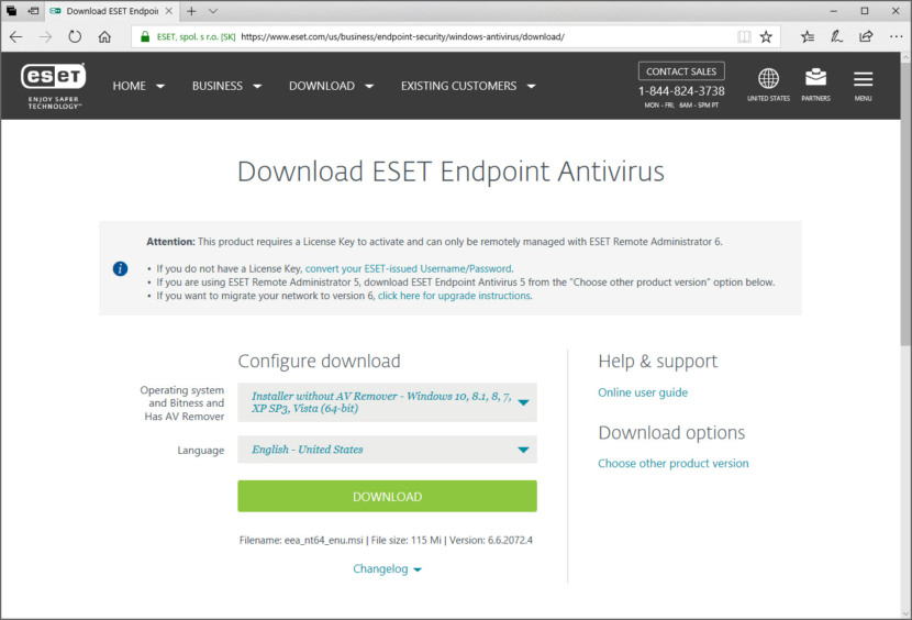 Download ESET Endpoint Antivirus For Business [ Best Security Protection ]