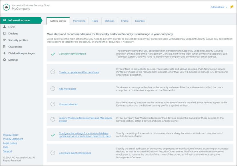 Kaspersky Endpoint Security screenshot