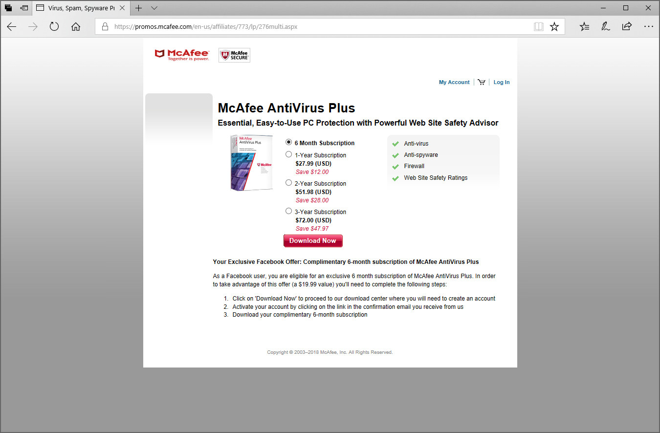 mcafee antivirus download for windows 7 32 bit