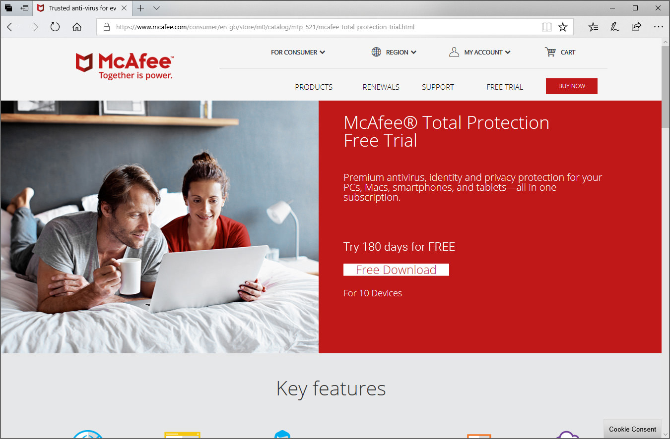 30 Days Free McAfee Total Protection 2020 - Download Trial