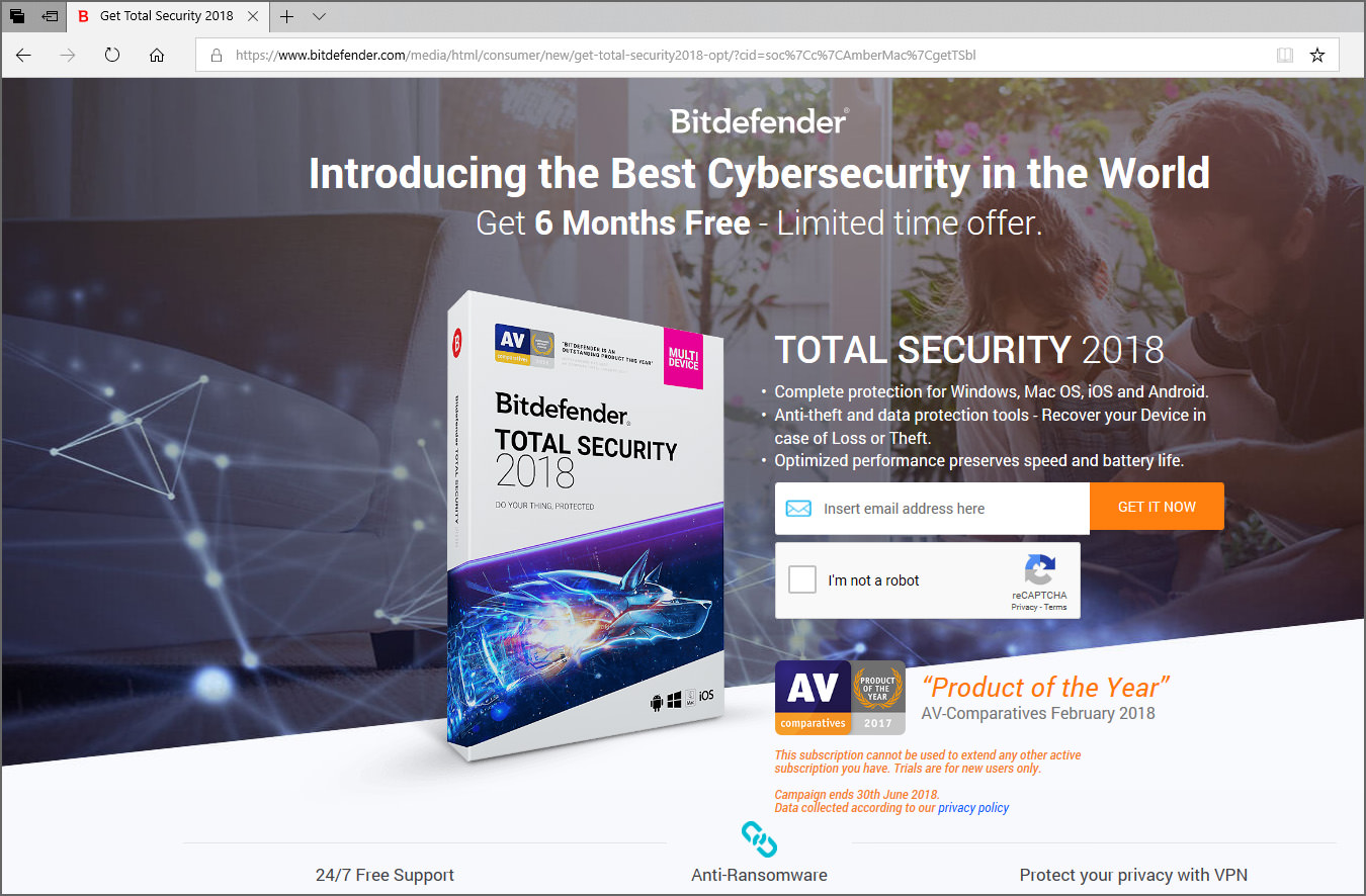 free bitdefender total security 2018 download