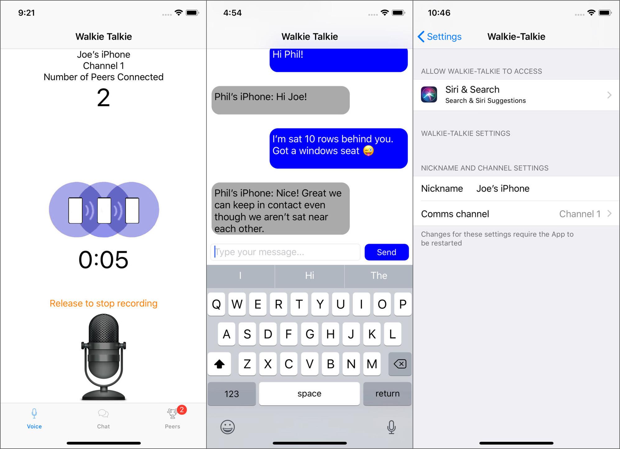Iphone Walkie Talkie App No Wifi