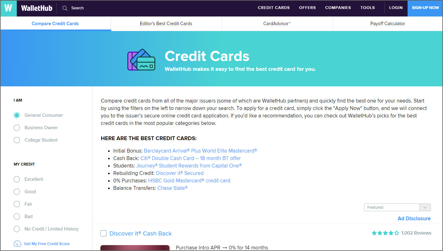 10 Best Sites For Comparing 1000+ USA Credit Card Offers And Rewards