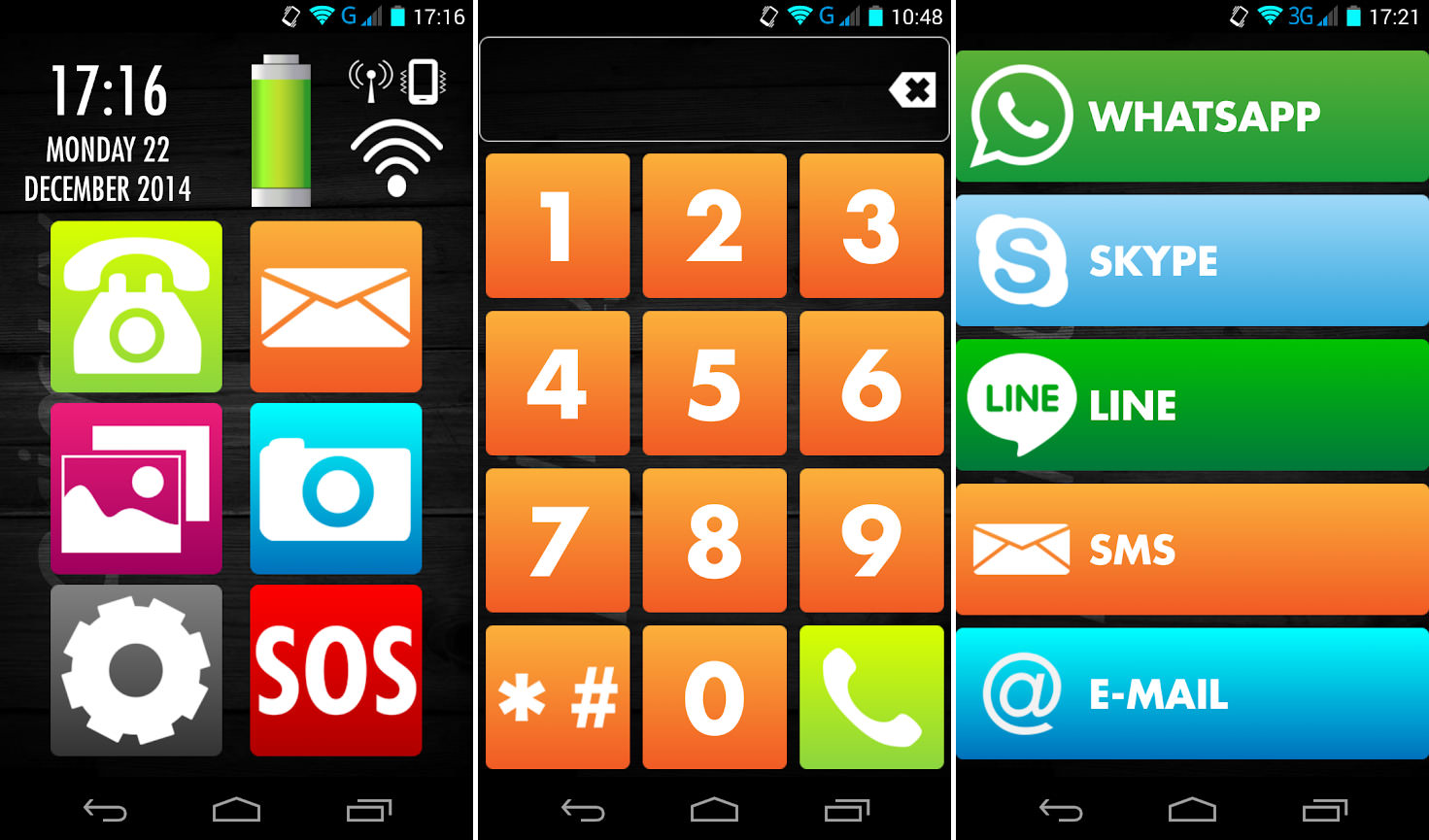 9 Senior Mode Themes With Big Icons For Android Smartphone