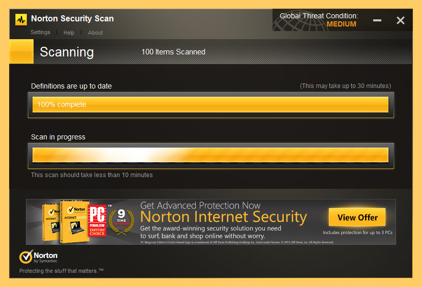 Symantec Norton Security Scan