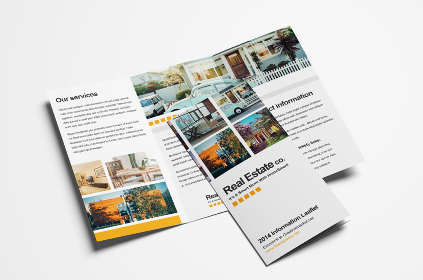 Real Estate Trifold Brochure Template