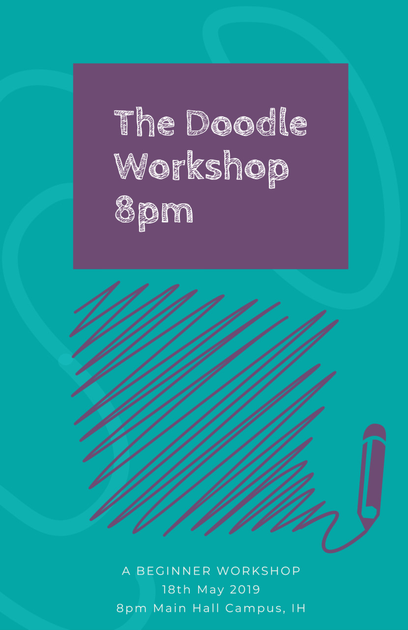 doodle drawing class Free Poster And Flyer Templates