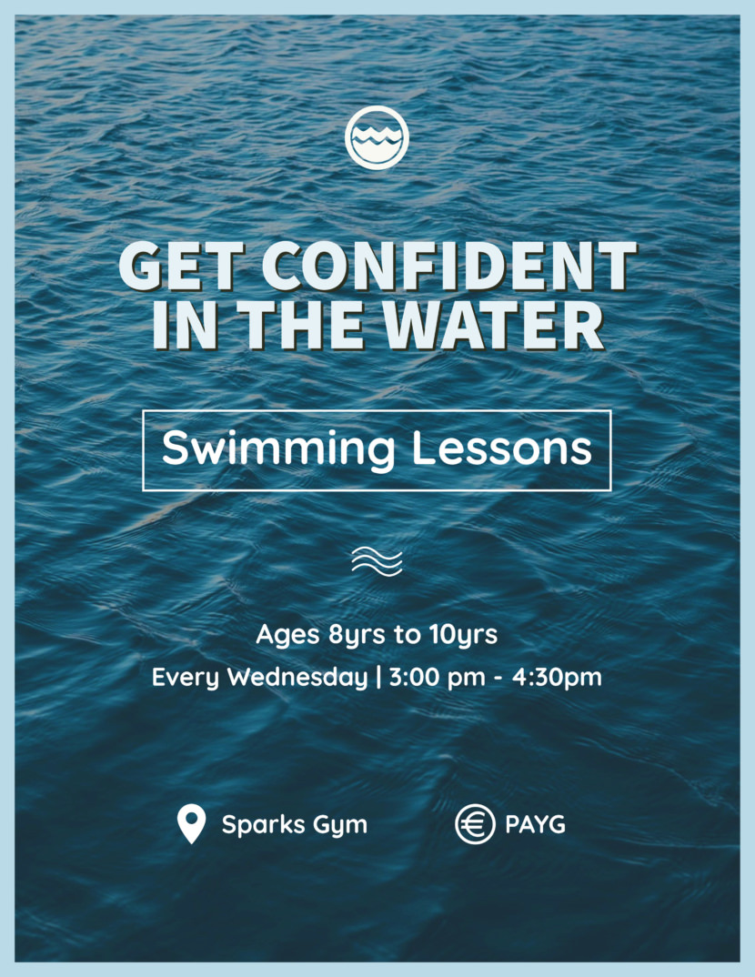 swimming lesson Free Poster And Flyer Templates