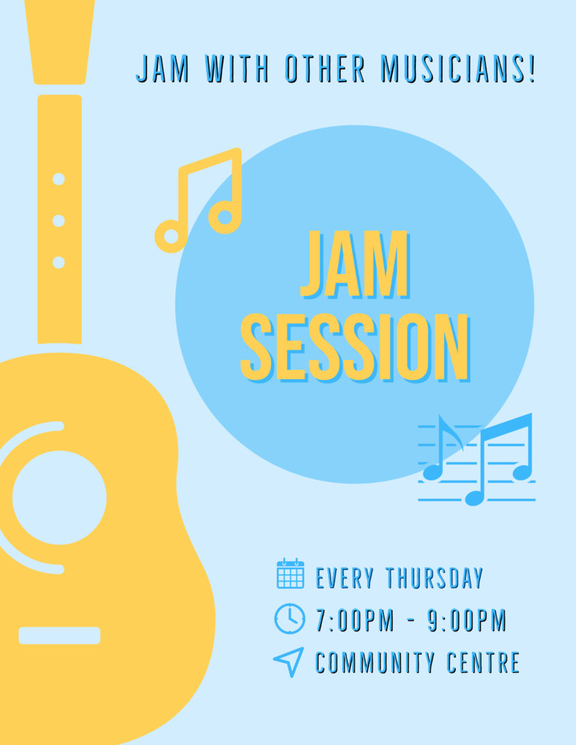 music jam session Free Poster And Flyer Templates