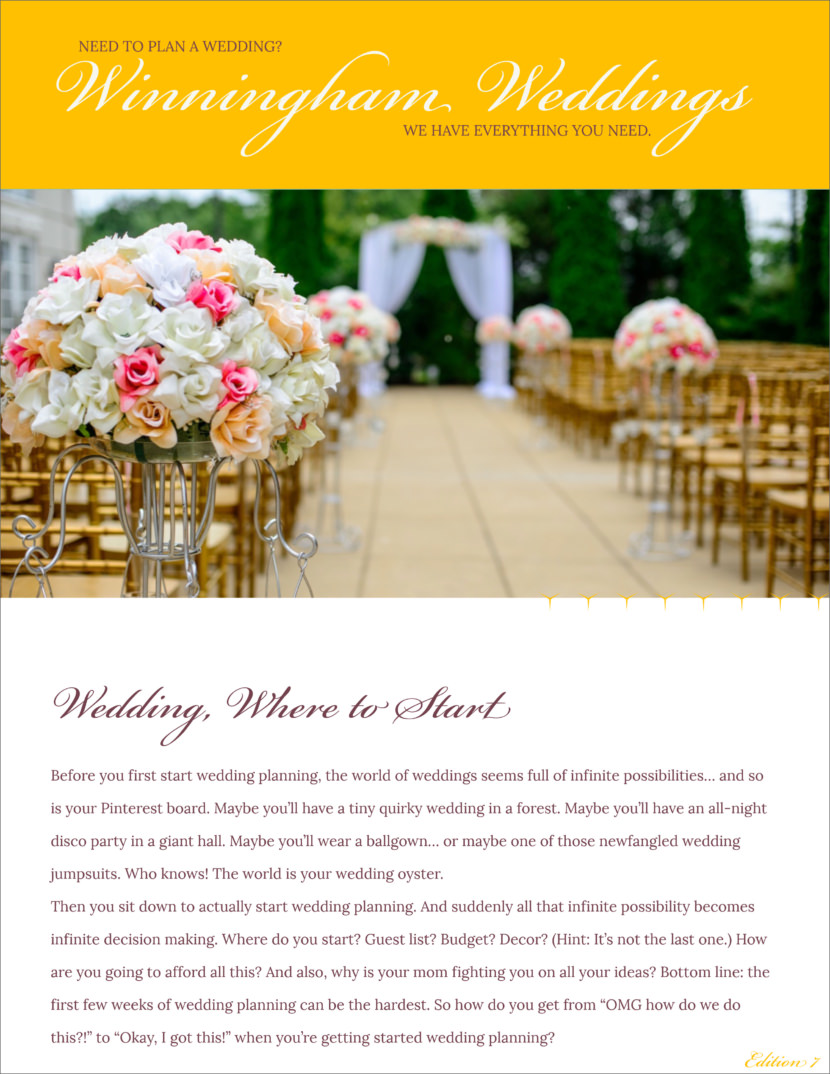 wedding Free Newsletter Templates