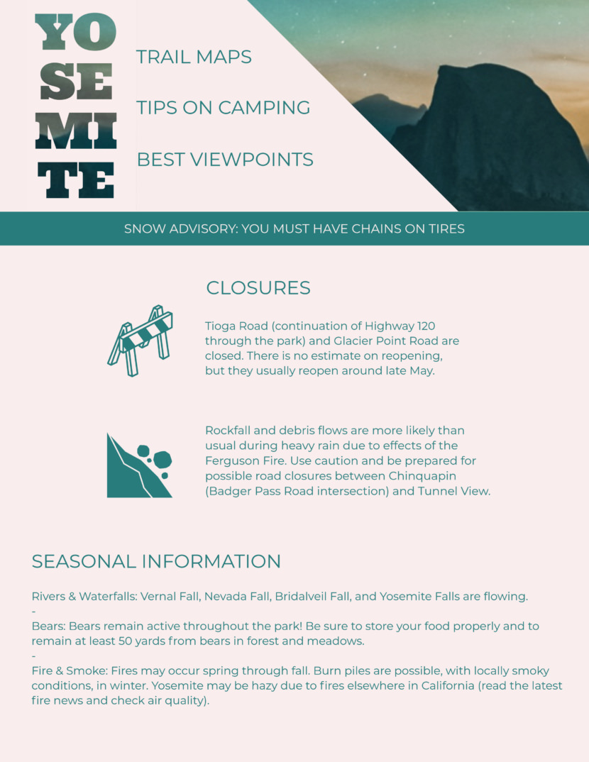 camping outdoor adventure Screenshot of free printable newsletter template for school and communities