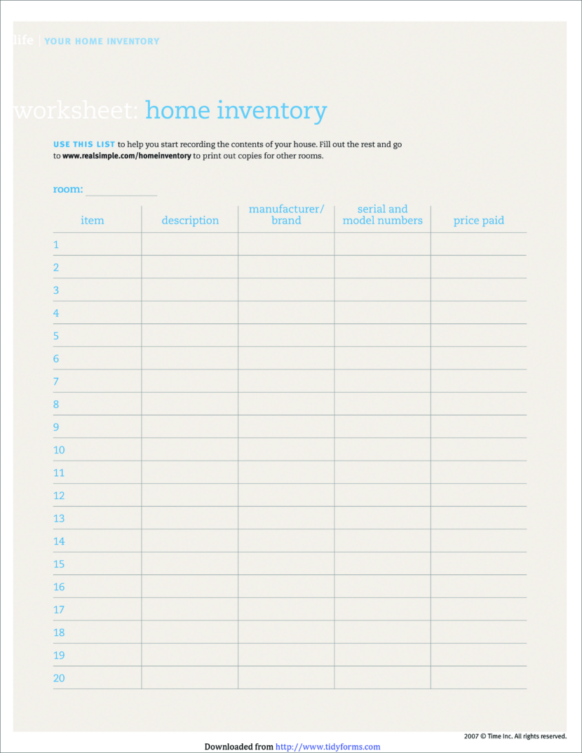 Free Stock Inventory Checklist Templates