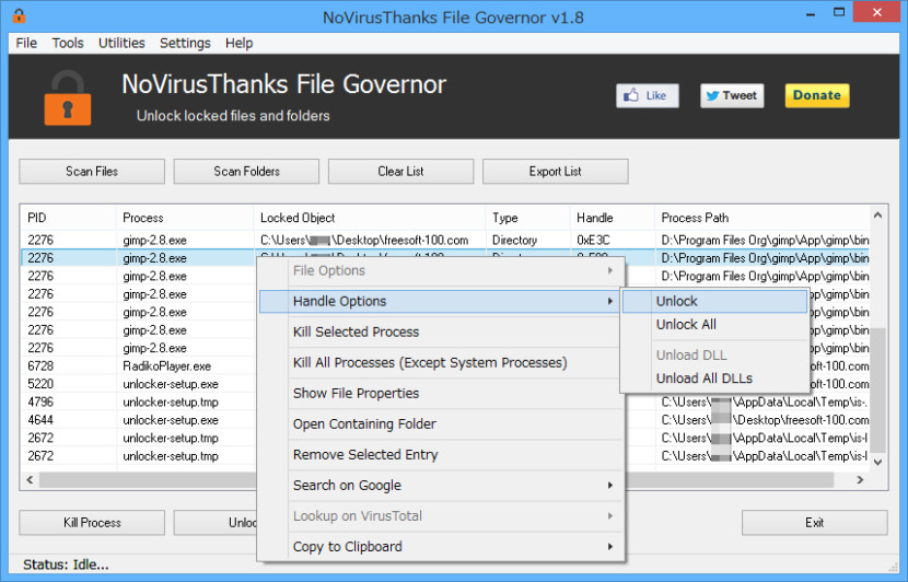 NoVirusThanks File Governor