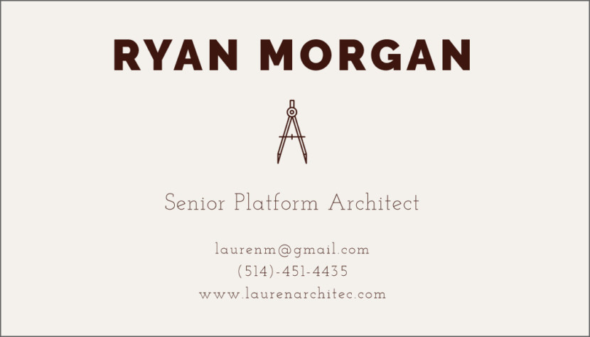 Screenshot of blank Architect Business Card Template