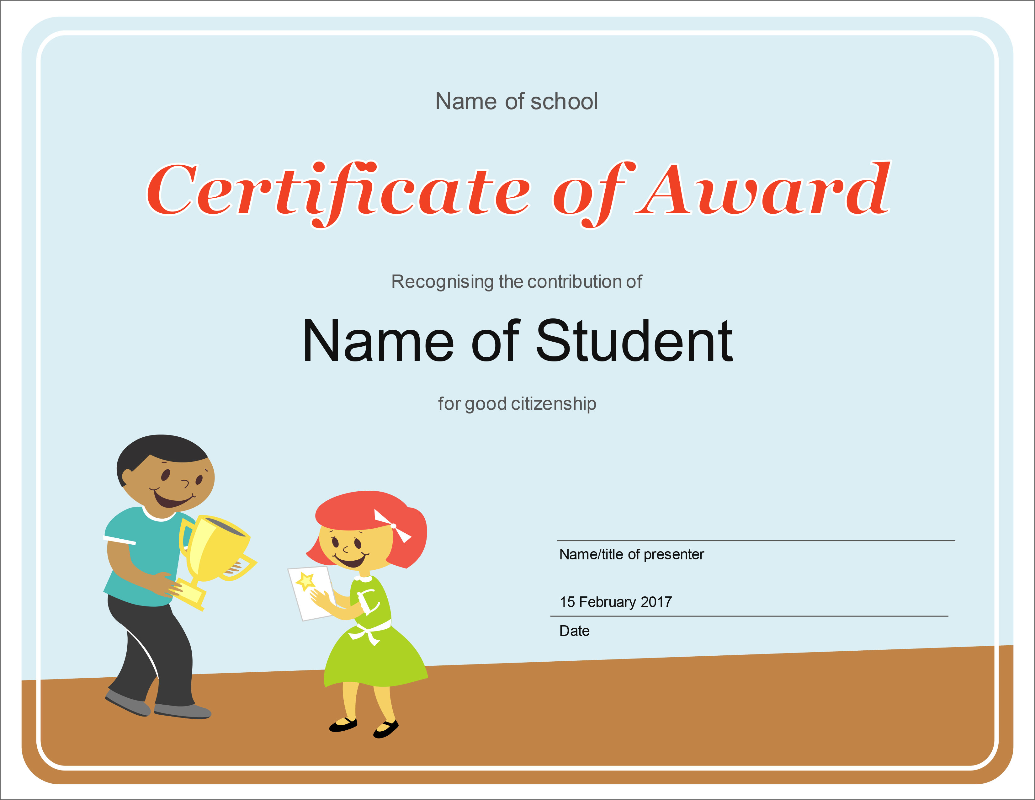 21 Free Creative Blank Certificate Templates In PSD Photoshop With Free Funny Award Certificate Templates For Word