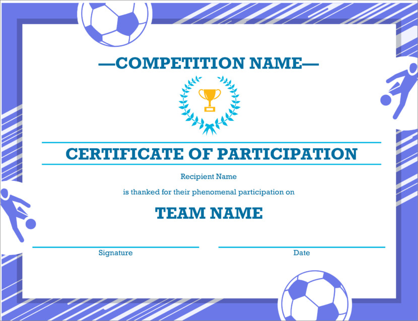 Creative Blank Certificate Templates sports basketball