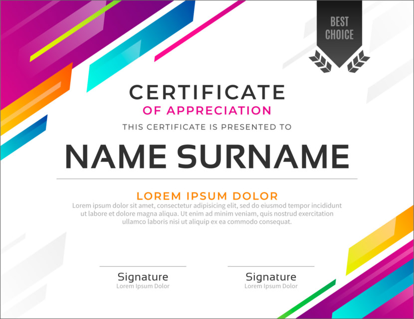 Modern Blank Certificate Templates
