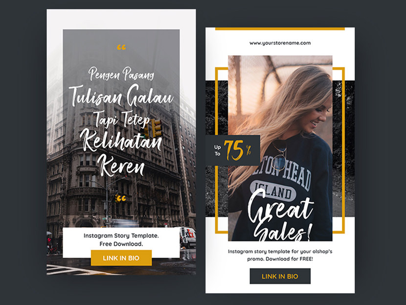 Vibrant Instagram Stories Template