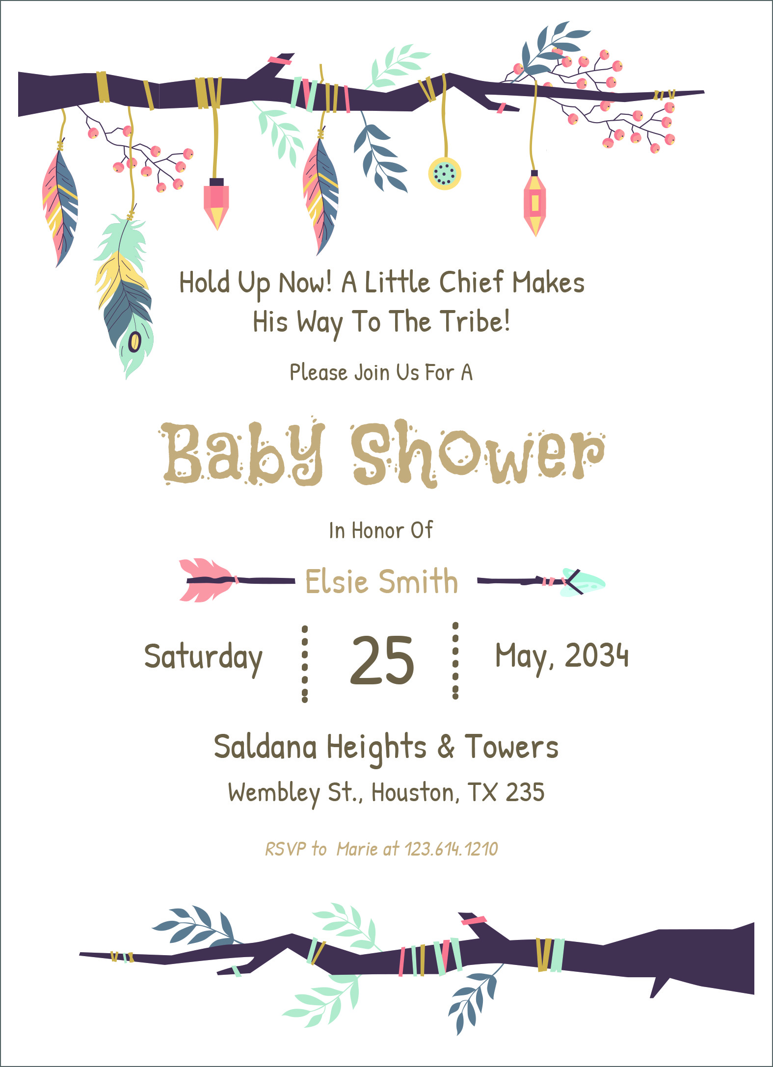 3 Free Editable Baby Shower Invitation Card Templates