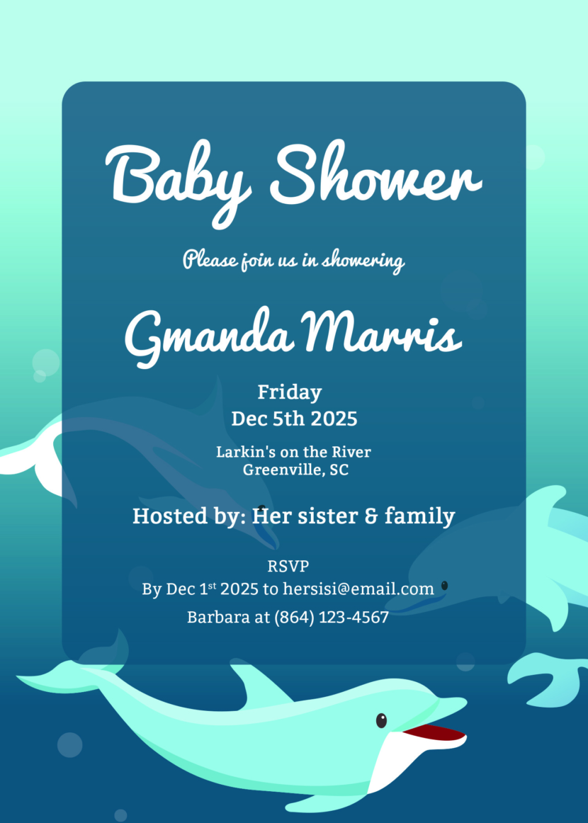 Printable Baby Shower Invitation Template