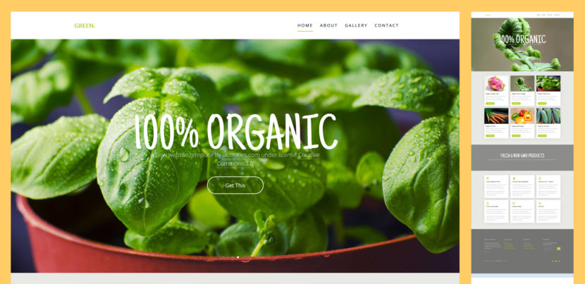 Green is a free html5 website template suitable for agricultural, ecology, farming, gardening, lawn services and for any organic businesses. It has a clean and modern design with sleek and cool, nature-design icon fonts. Green can showcase your organic products using pop-up gallery or pop-up video.
