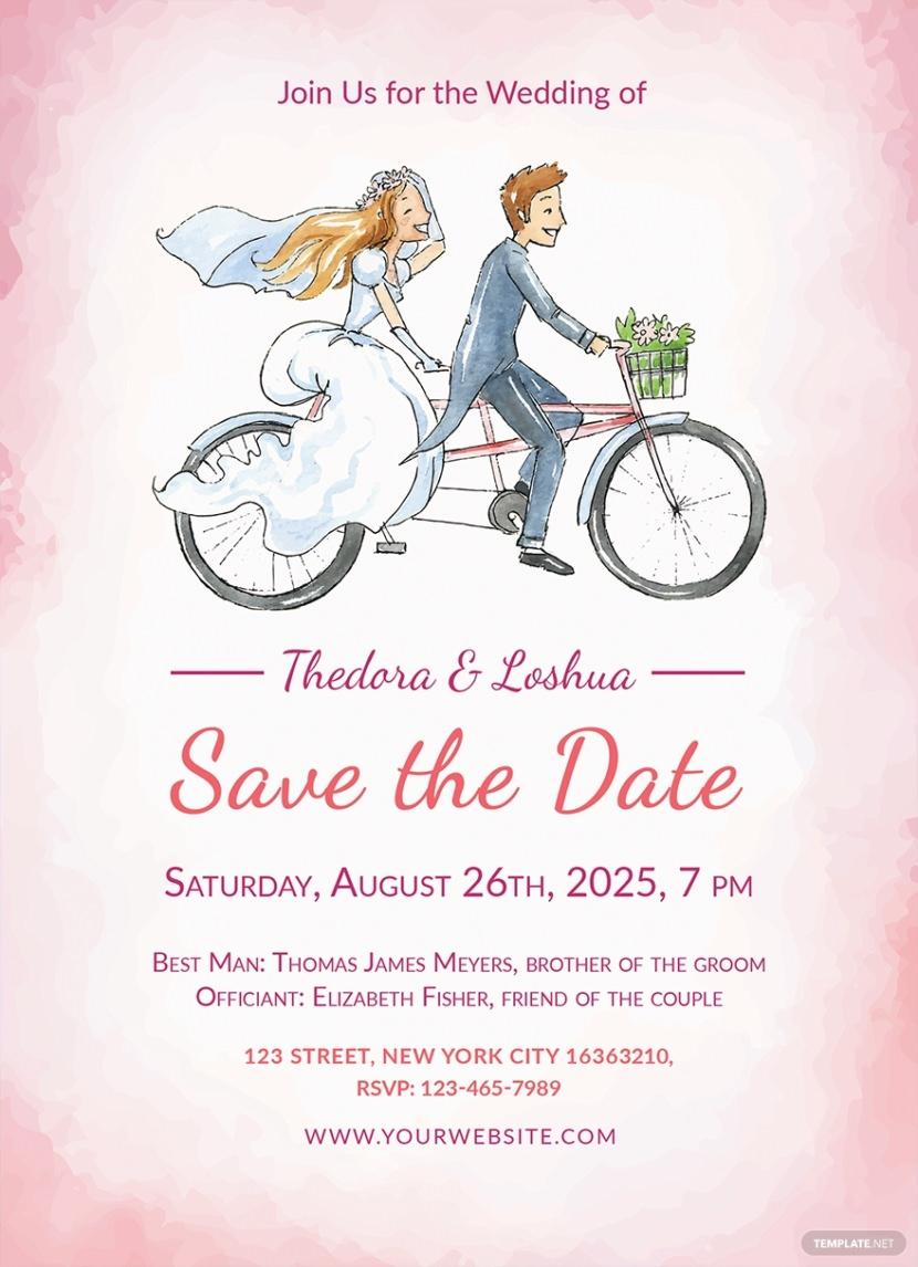 Free Simple Wedding Invitation Template Printable And Editable PSD