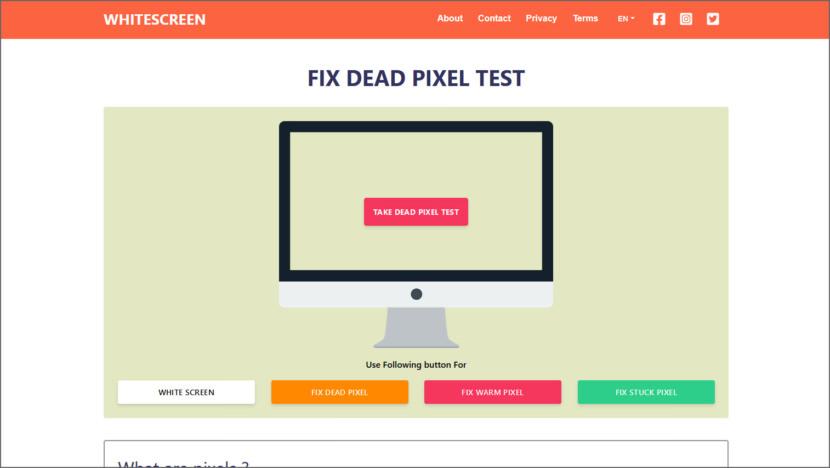 Fix Dead Pixel Test
